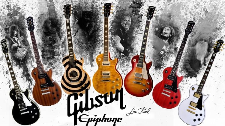 Wallpapers Music Instruments - Guitares Les Paul Tribute