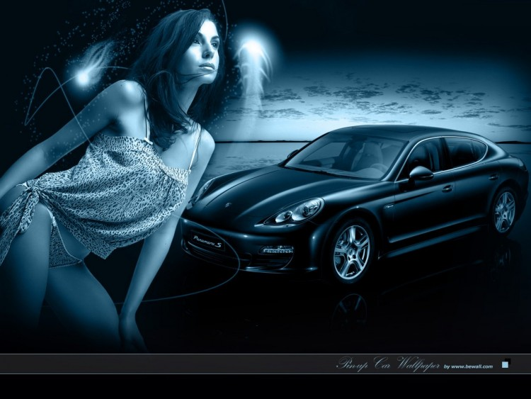 Wallpapers Cars Girls and cars Pin-up Car wallpaper 2010 porsche panamera
