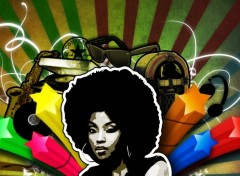Wallpapers Digital Art Vintage afro music