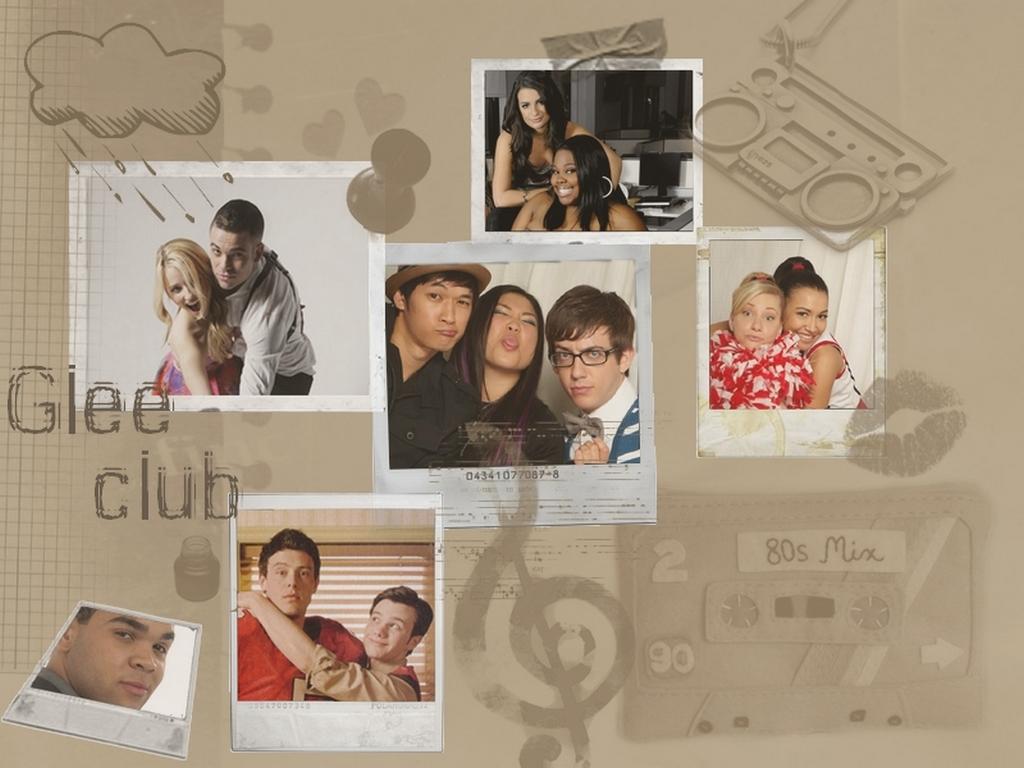 Fonds d'écran Séries TV Glee Glee club