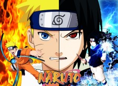 Wallpapers Manga Naruto vs Sasuke