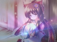 Fonds d'écran Manga 03 Tendre moment