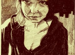 Fonds d'écran Art - Crayon Elle