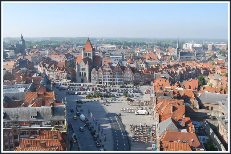 Wallpapers Trips : Europ Belgium Tournai (Belgique) - La grand-Place vue du beffroi