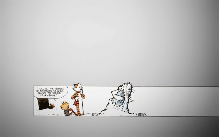 Fonds d'écran Comics et BDs Calvin & Hobbes Calvin's modern snow-art