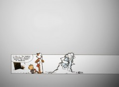 Wallpapers Comics Calvin's modern snow-art