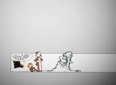 Fonds d'écran Comics et BDs Calvin's modern snow-art