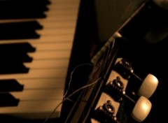 Wallpapers Music piano guitare