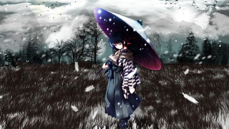 Fonds d'écran Manga Divers snow white and feathers
