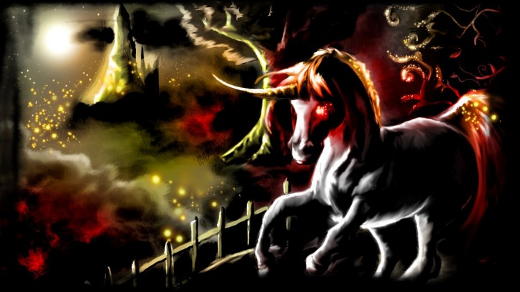 Wallpapers Art - Painting Fantasy Cheval noir