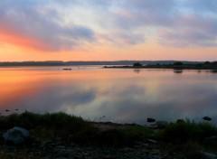 Fonds d'écran Nature UN PETIT COUCHER DE SOLEIL DANS UN LIEU DE PARADIS...