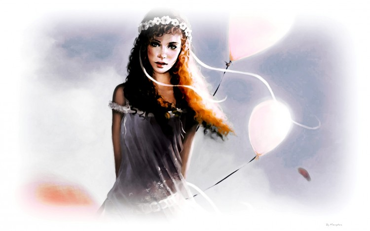 Wallpapers Fantasy and Science Fiction Angels Advent in Paradise