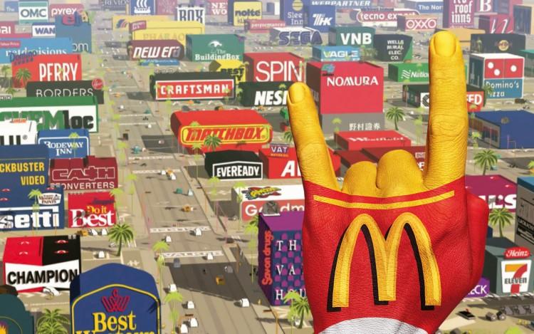 Fonds d'écran Grandes marques et publicité McDonald Logorama 1