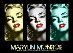 Fonds d'écran Célébrités Femme Drawing of Marylin