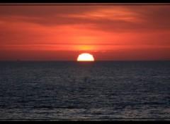 Fonds d'écran Nature coucher de soleil au bord de Mer de Granville
