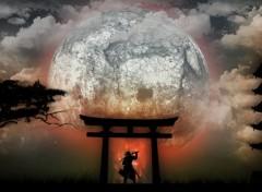Wallpapers Digital Art Samurai Au Claire De Lune