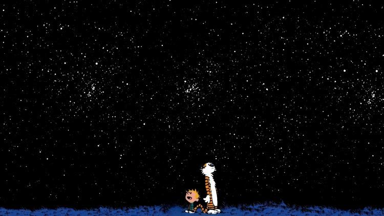 Fonds d'écran Comics et BDs Calvin & Hobbes Calvin and Hobbes looking stars