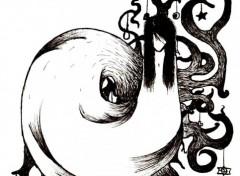 Fonds d'écran Art - Crayon Fondu au noir