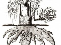 Fonds d'écran Art - Crayon l'arbre