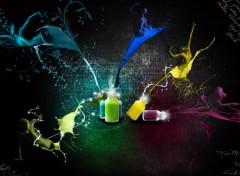 Wallpapers Digital Art Human Color Explosion