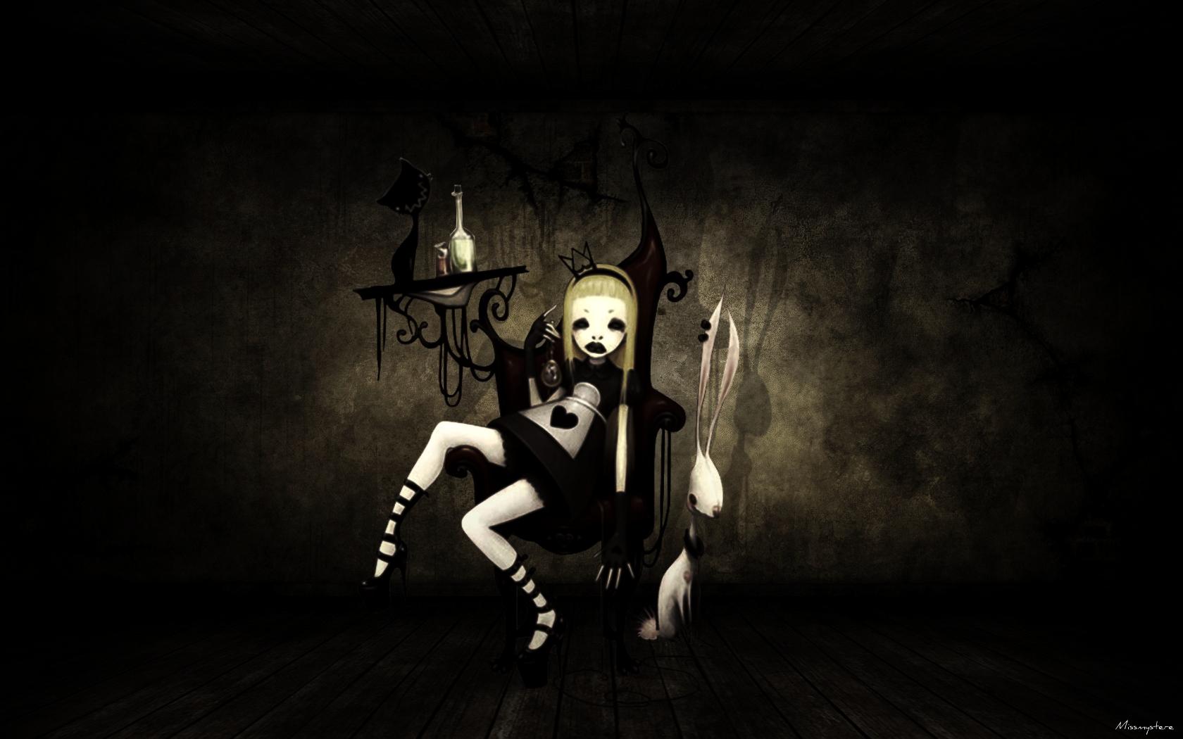 Fonds d'écran Art - Numérique Style Gothique Alice in Gothik Land
