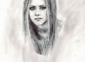 Wallpapers Art - Pencil Avril Lavigne