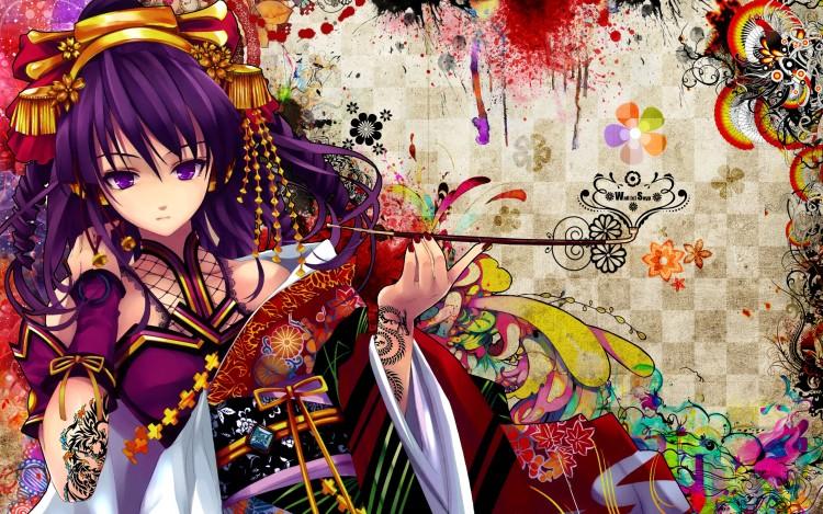 Wallpapers Digital Art Style Asian Outstanding Geisha