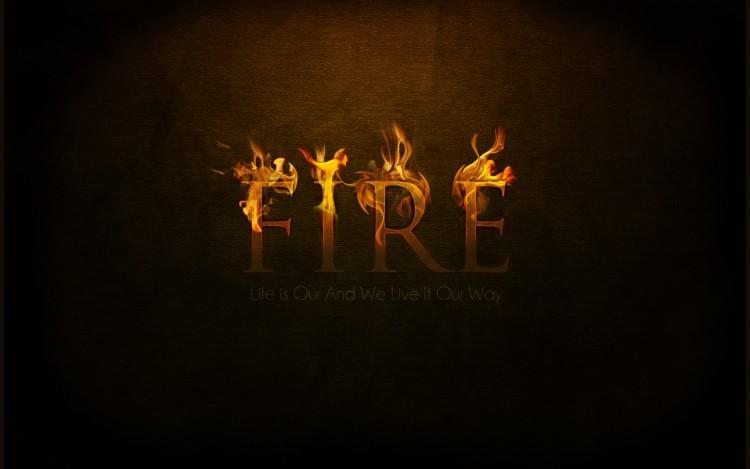 Fonds d'écran Art - Numérique Elements - Air, eau, feu, terre Fire