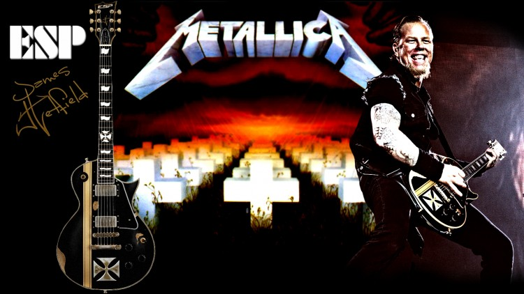 Fonds d'écran Musique Metallica ESP Eclipse James Hetfield