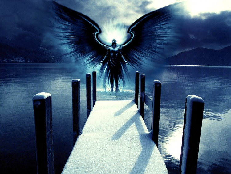 Wallpapers Fantasy and Science Fiction Angels Rédemption du lac