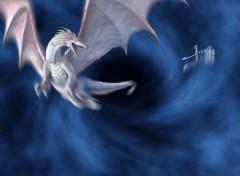 Wallpapers Digital Art Dragon blanc
