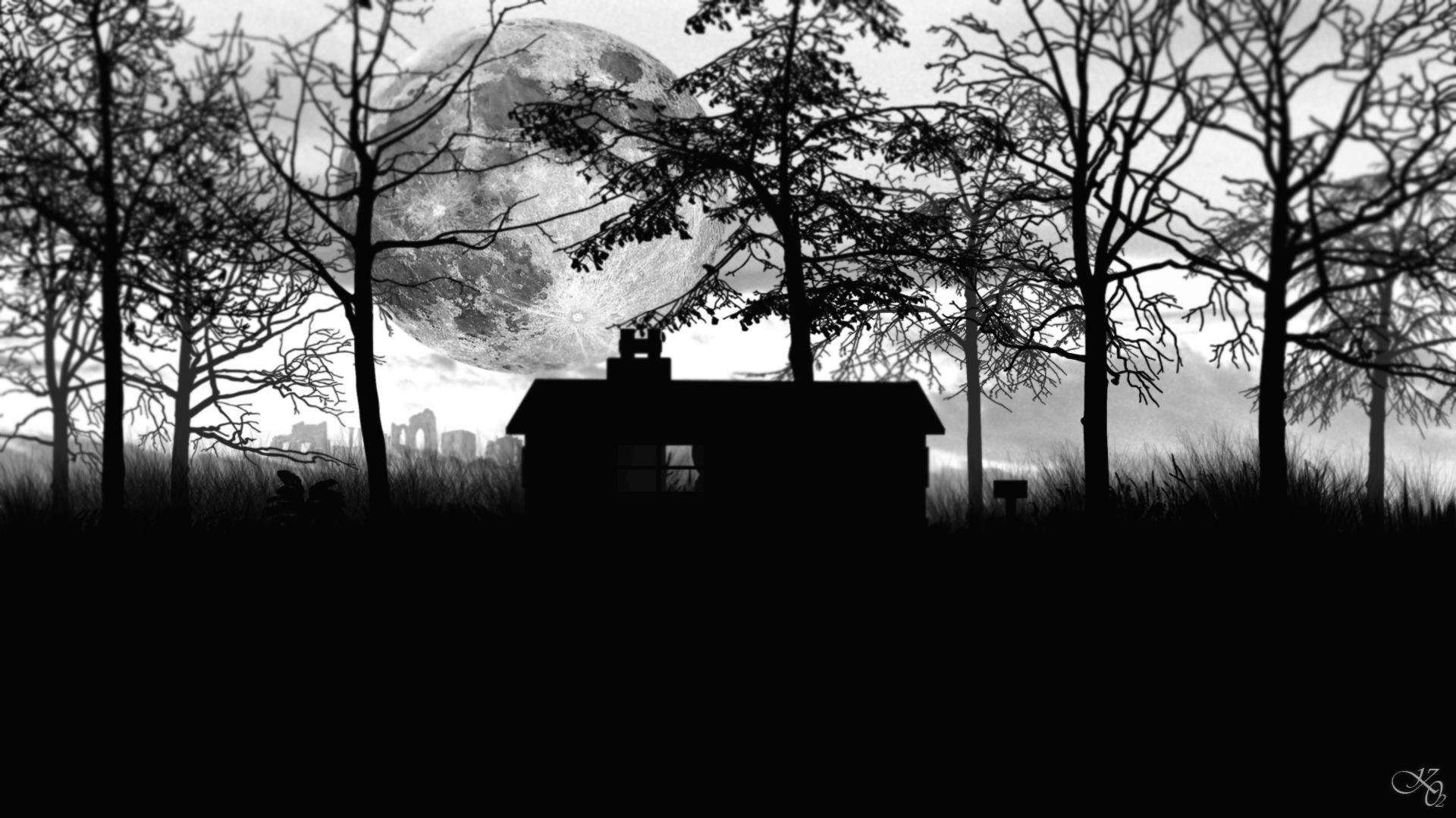 Wallpapers Digital Art Black & White forestier