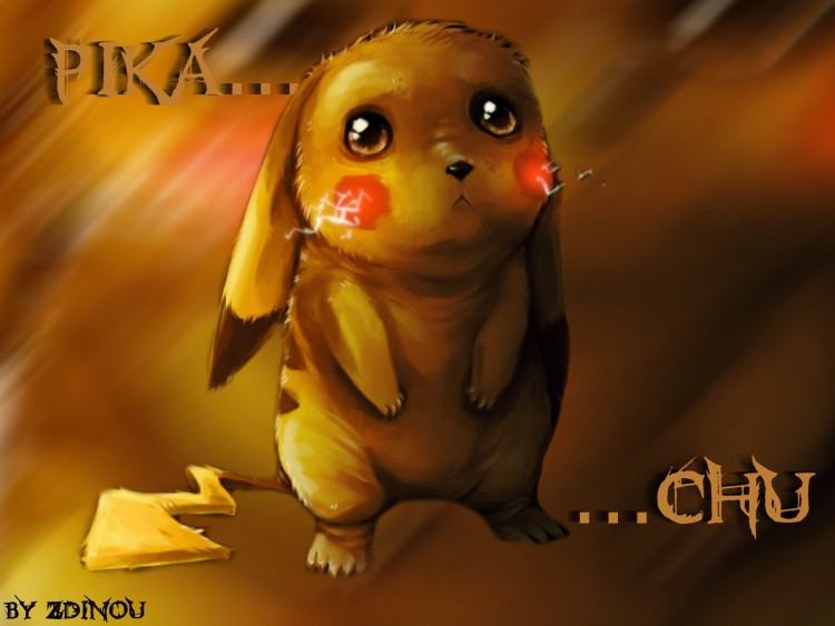 Wallpapers Manga Pokemon Pikachu Triste