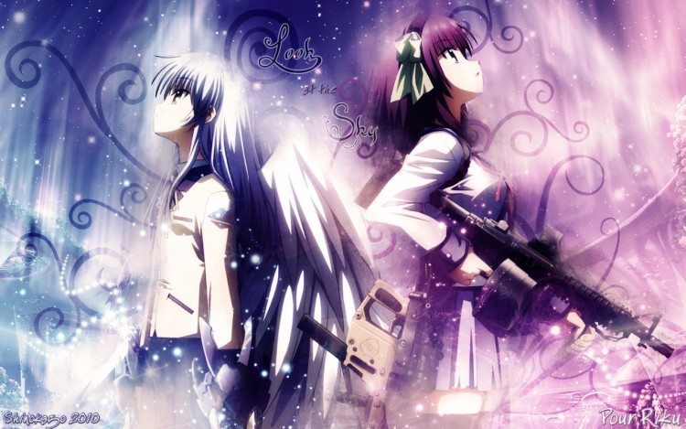 Wallpapers Manga Angel Beats Look at the Sky