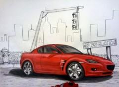 Fonds d'écran Art - Crayon Mazda RX-8