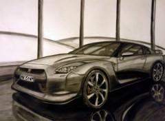 Fonds d'écran Art - Crayon Nissan skyline GT-R