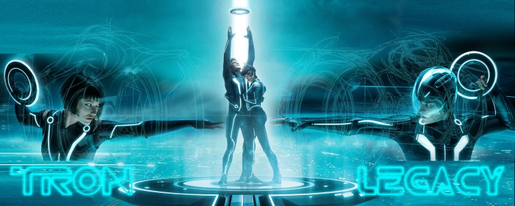 Wallpapers Movies Tron Legacy Quorra Vs Flynn