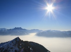 Wallpapers Nature Dents du Midi et mer de brouillard