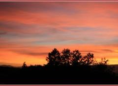 Wallpapers Nature tombée du soir rose