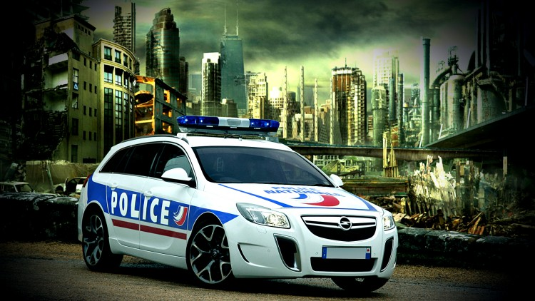 Fonds d'écran Voitures Opel insignia opc police