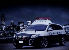 Wallpapers Cars insignia opc japan police
