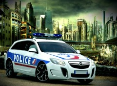 Wallpapers Cars insignia opc police