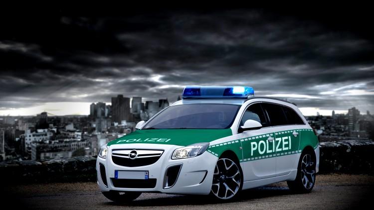 Fonds d'écran Voitures Opel insignia opc polizei