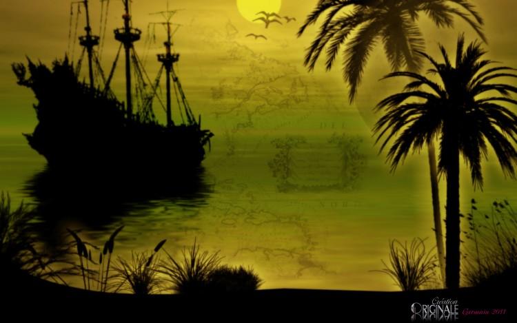 Wallpapers Digital Art Nature - Oceans, Beaches Le Black Pearl