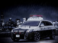 Wallpapers Cars insignia opel japan police