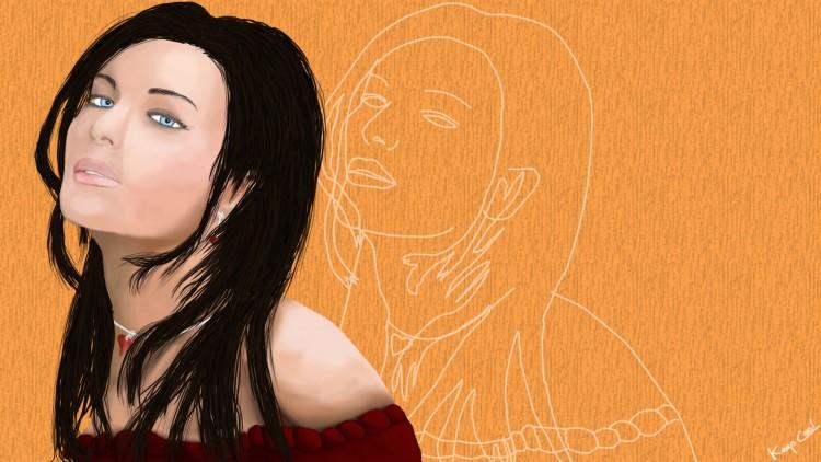 Fonds d'écran Art - Numérique Femmes - Féminité Miss Brune