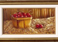 Fonds d'écran Art - Peinture Panier de Cerises