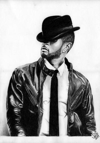 Fonds d'écran Art - Crayon Portraits Usher