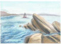 Fonds d'écran Art - Crayon Marine