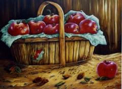 Fonds d'écran Art - Peinture Le panier de pommes